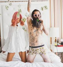 Ainsley Hutchence and Sebastien Fougere s Uber cool wedding photos.