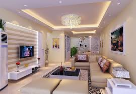 family room lighting design. Modern Family Room Decoration Ideas Ceiling Interior Design Drum Shape Table Lamp Shade Beige Color Moulding Curved Stone Lighting