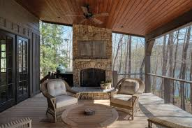 screened in porch with fireplace. Fireplace, Wood - Different Stains. *** Dining Sun Porch Google Search Screened In With Fireplace A