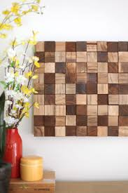 mosaic wall decor: create this wooden mosaic wall art with simple supplies you can find at the craft store