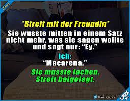 Zack Streit Vorbei Lustig Freundin Lachen Humor Sprüche