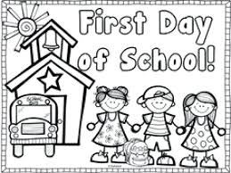 back to school coloring first school coloring pages free day of for kindergarten on