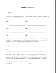 Emergency Form For Daycare Field Trip Printable Free Report Teacher Planning Forms For