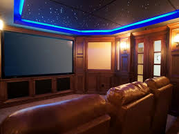 home theater ceiling lighting. Large Size Home Theater Basement Round Track Ceiling Lamp Black Paint Color Red Arm Chair Brown Lighting