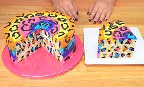Impress Em All With Rainbow Leopard Cake