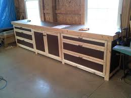 work cabinets diy plywood garage cabinet plans wood