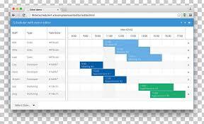 Gantt Chart Ext Js Job Scheduler Computer Software Png