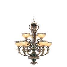 seville palacial bronze nine light chandelier