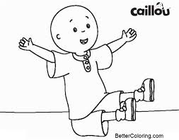 Awesome Caillou Coloring Pages Printable Free Printable Coloring Pages