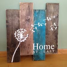 dandelion wall hanging home at last rustic wall