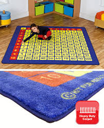 100 square multiplication grid carpet 2m x 2m