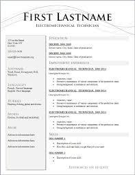 Gallery Of Resume Template International Cv Format In Word Free