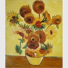 contemporary sunflower fl oil painting on canvas van gogh masterpiece replicas