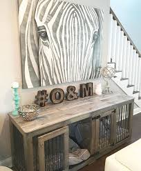 Wood dog crates furniture Buffet Table Dog Dog Crate Console Table Ultimate Dog Bed First Home Dog Crate Dogs Dog Crate Furniture