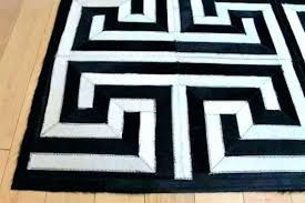 black and white striped rug carpet area rugs maze pattern ikea