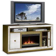 entertainment furniture reflection contemporary fireplace tv stand mirror