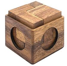 Wooden Game Cubes Extraordinary Amazon Cube Puzzle Wooden Puzzle For Adults A Handmade 32D