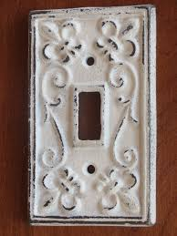 Antique White Light Switch Cover / Light Plate Cover / Cast Iron / Wall  Decor /