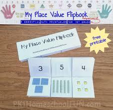 Place Value Chart For 1st Grade My Place Value Flipbook Pk1homeschoolfun