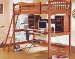 Wood Workstation Bunkbed Bunk Bed Office Computer Desk Coaster Home