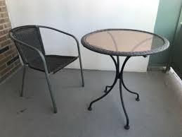 patio balcony chair table patio