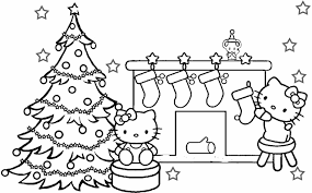 Christmas Cat Coloring Page Kitty Coloring Pages Christmas