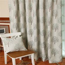 elegant and graceful lime green curtains with tree patterns
