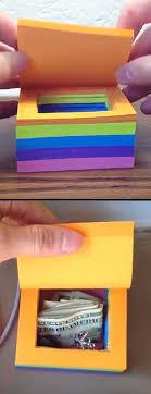 sticky note safe 25 post it note diy ideas