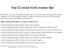 Social Worker Resumes Samples Resume Sample Work Download