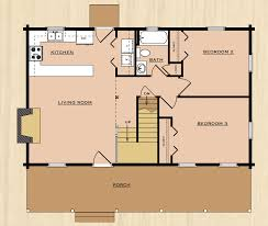 Floor Plans   RP Log HomesTwo Story Home   Sq  Ft  Bedrooms Baths