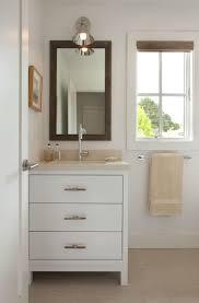 Bathroom : Sleek Simple Bathroom Vanity With Three Drawers Below ...