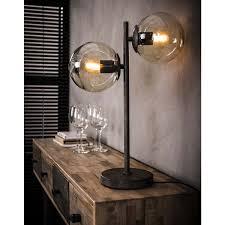 Tafellamp Met Twee Glazen Bollen Id Wonen