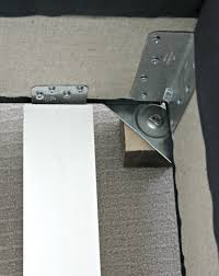 once the feet are securely attached you can now attach the support boards to the l brackets that will run the width of the bed i was originally going to