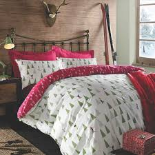 red and white bedding. Brilliant Red Christmas Duvet Cover Pillow Case Bedding Set Xmas Snowman Nordic Ski Red  White With And A