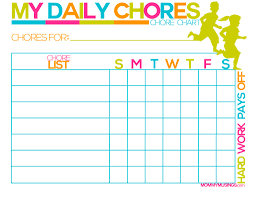Free Printable Kids Chore Rewards Chart Daily Copy Childrens