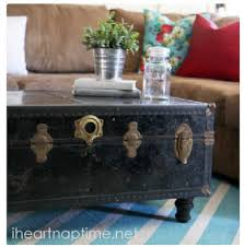 Vintage trunk coffee table Suitcase Diy Decor How To Turn An Old Chest Into Coffee Table Painting Rugs Alcom Diy Decor How To Turn An Old Chest Into Coffee Table Painting