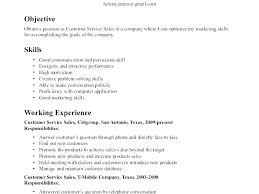 Skill Resume Samples An Example Of A Good Resume Good Communication