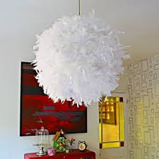 Make A Glamorous Feather Lamp From A Paper Lampshade Ikea Hackers