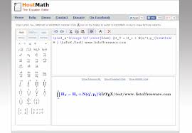 hostmath com is a standalone math equation editor this free tool understands latex tex amsmath and asciimath it also converts codes into