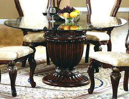 round table glass top dining appealing round glass top dining tables breathtaking repertoire round glass pedestal
