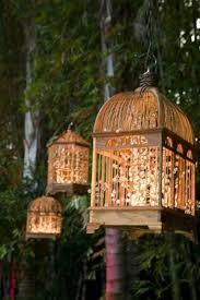 cool lighting decor for outdoor party