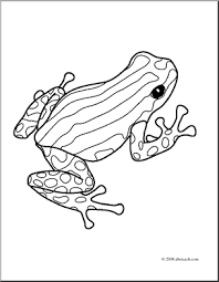 Small Picture Clip Art Frogs Pasco Poison Dart Frog coloring page preview