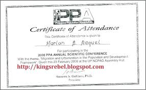 Conference Participation Certificate Template Voipersracing Co