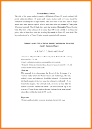Abstract Format Abstract Page Example In Apa Format Useful 24 Vizarron 9