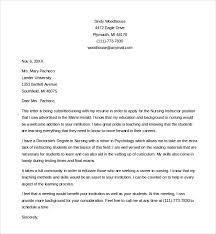Cover Letter For Adjunct Instructor Position