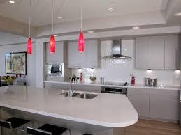 red pendant lighting. View Larger Image Modern Kitchen With Red Pendant Lighting - Lightstyleoforlando