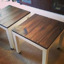 Ikea Lack Hack - add a weathered, industrial look to your inexpensive Lack  tables with