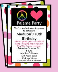 sleepover invitation printable or printed shipping sleepover invitation printable peace love and pajamas