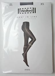 Nwt Wolford Sophia Stripe Opaque Tights Size Xs 21 99