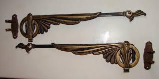 Antique Art Deco Swing Arm Curtain Rods